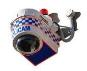 POLICAM surveillance camera and enclosure.