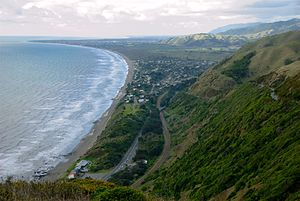 Paekakariki Township & Beach, from Paekakariki...