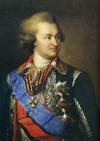 Portrait of russian fieldmarshal Prince Potemk...