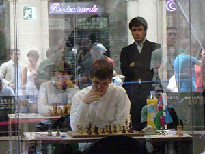 English: Teimour Radjabov and Magnus Carlsen i...
