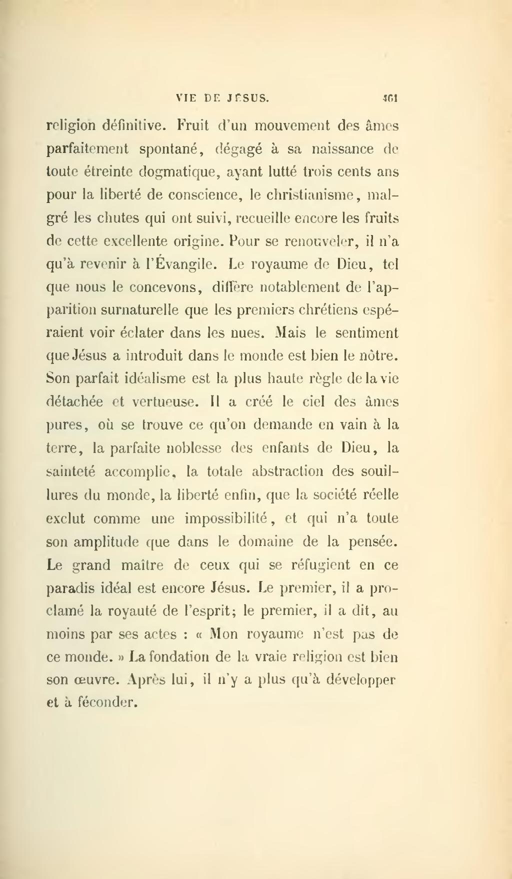Mon Royaume N'est Pas De Ce Monde : royaume, n'est, monde, Page:Renan, Jesus,, Edition, Revue,, 1895.djvu/581, Wikisource