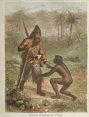 Robinson crusoe rescues friday-1868