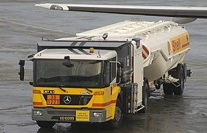 Shell Aviation fuel truck at Trondheim Airport...