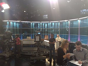 The studio set-up for The Frontline (Irish TV ...