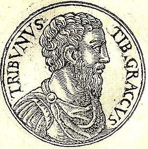 English: Tiberius Sempronius Gracchus was a Ro...