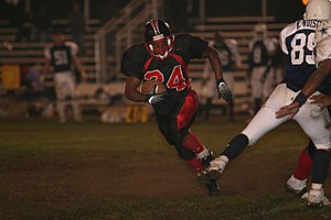 Lance Cpl. Cordero Davis, a Miramar Falcons ru...