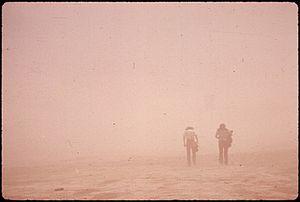 WALKERS IN DUST STORM - NARA - 544315