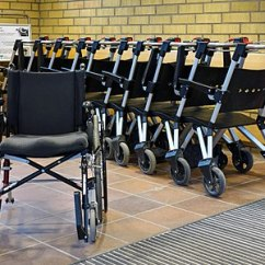 Stunning Steel Chair Attacks Antique Rocking Chairs For Sale Commons Featured Picture Candidates Log April 2018 Wikimedia Wheelchairs Visitors At The Entrance In Nal Hospital