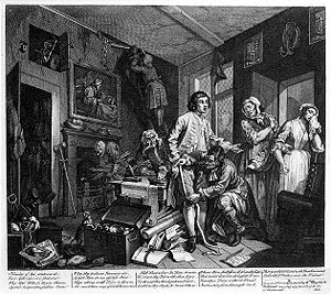 William Hogarth: A Rake's Progress, Plate 1: T...