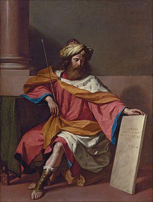 'King David', painting by Giovanni Francesco B...