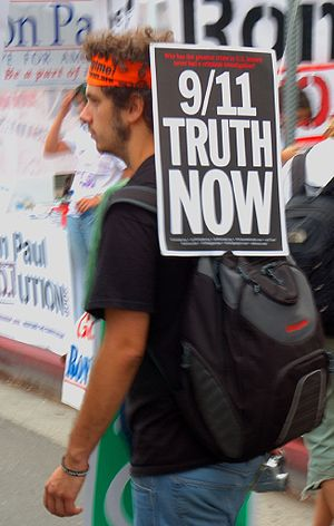 9/11 Truth Movement demonstrator, Los Angeles.