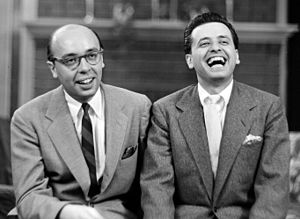 English: Portrait of Ahmet M. Ertegun and Nesu...