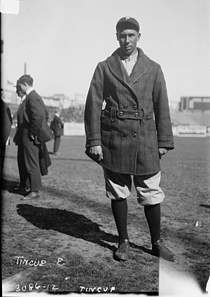 Native American baseball player Ben Tincup of ...