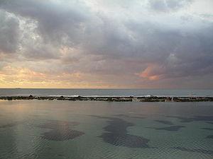 Coastline of Benghazi, Libya's second largest ...