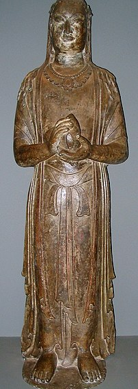 A limestone statue of the Bodhisattva, from th...
