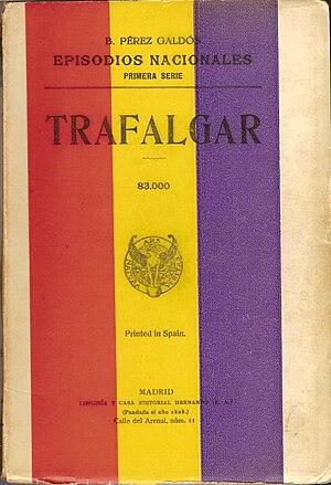 Portada del Episodio Nacional Trafalgar, publi...