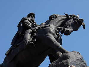 English: Rovigo (Italy): monument of Garibaldi...