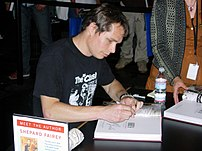 Shepard Fairey at a book signing for Supply & ...