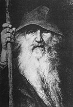 An 1886 depiction of the indigenous Germanic god Odin by Georg von Rosen.