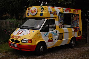 A 1999 Ford Transit Ice Cream Van at Heath Vil...