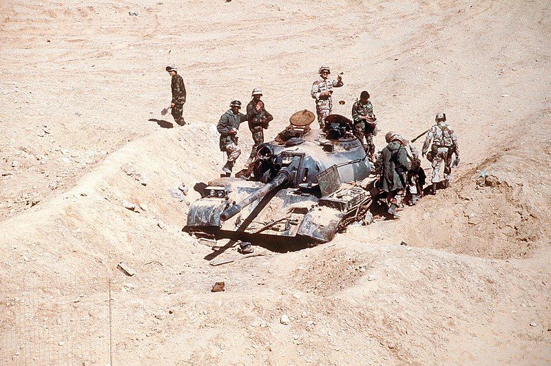File:Iraqi Type 69 destroyed by the French 6th Light Armored Division during the Gulf War.JPEG