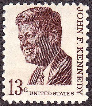 English: US Postage stamp: John F. Kennedy, Is...