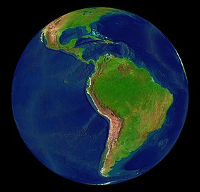 Vista de satélite de América Latina