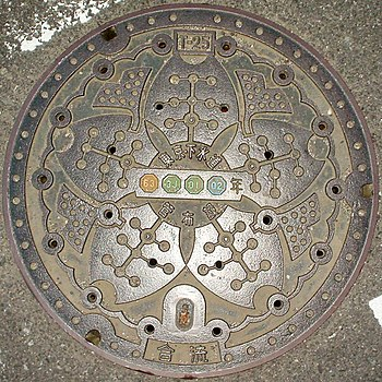 Manhole cover in Tokyo