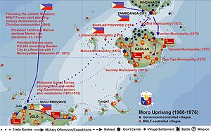 English: Moro Uprising and Martial Law in Basi...