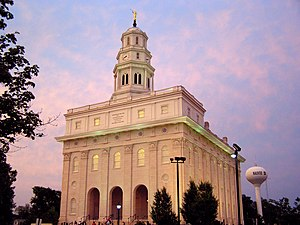 The newly rebuilt Nauvoo LDS Temple. The origi...