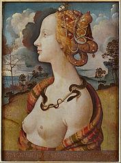 Portrait de femme dit de Simonetta Vespucci - Piero di Cosimo [Public domain], via Wikimedia Commons