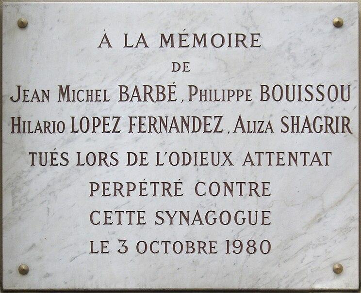 Archivo: El ataque de placa de la rue Copernic, París 16.jpg