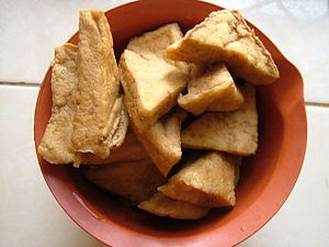 English: Fried tofu for cooking Bahasa Indones...