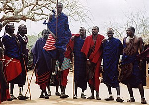 English: Traditional Maasai Dance Kenya 2005