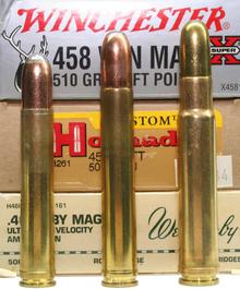.458 Winchester Magnum, .458 Lott og til sidst .460 Weatherby Magnum.