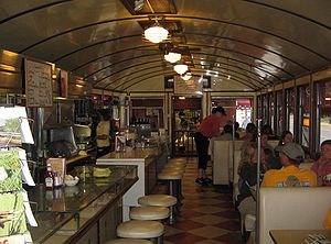 Interior of the 1938 Diner in Wellsboro, Tioga...