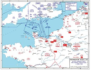 Allied invasion plans and german positions in ...