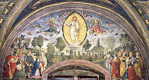 The Ascension Fresco Borgia Apartments, Hall o...