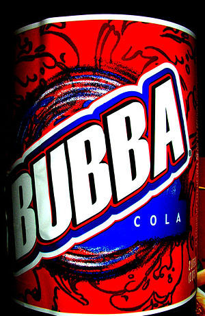 Bubba Cola label, 2 liter bottle