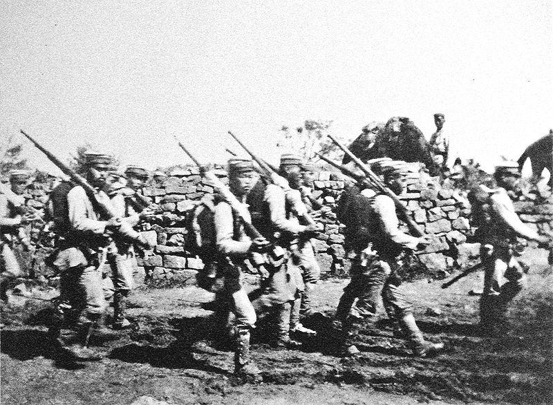 File:Japanese soldiers near Chemulpo Korea August September 1904 Russo Japanese War.jpg