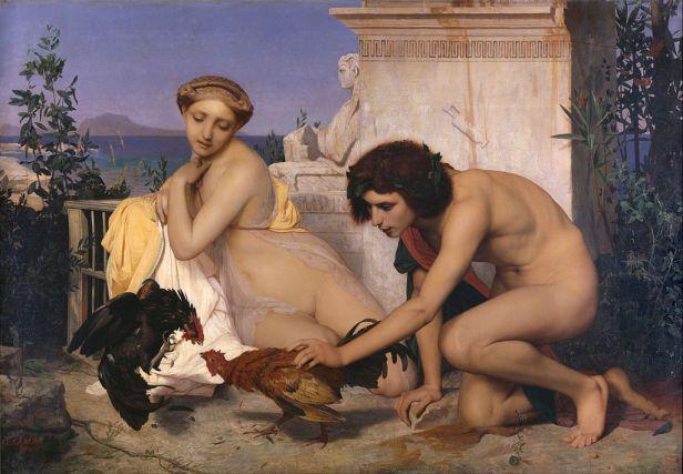 Jean-Léon Gérôme - Young Greeks Attending a Cock Fight - Google Art Project
