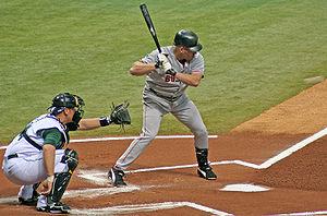 Kevin Youkilis at bat against the Tampa Bay De...