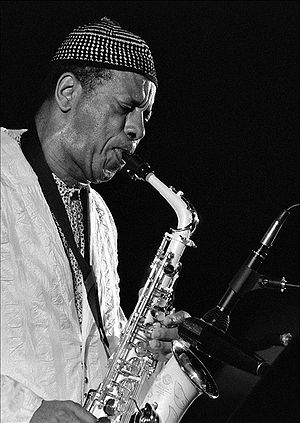 American jazz saxophonist Ornette Coleman