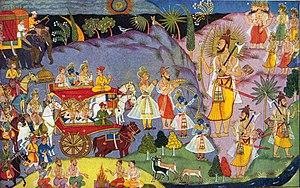 Meeting of Rama and Parasurama