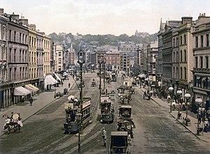 English: Patrick Street, Cork, Ireland Gaeilge...
