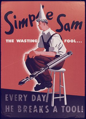 Simple Sam. The wasting fool... Everyday he br...