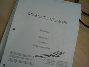 Stargate Atlantis script, won at contest. Русс...