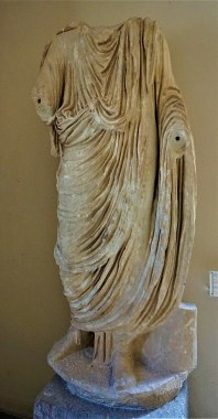 Statue of a Toga-clad Roman Dignitary - Archaeological Museum of Epidaurus by Joy of Museums