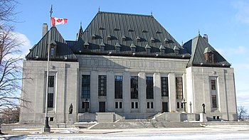 English: Supreme Court of Canada building, Ott...