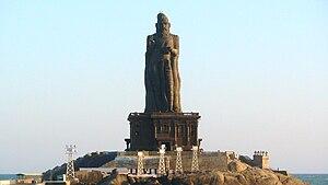 133 feet Thiruvalluvar statue in Kanyakumari